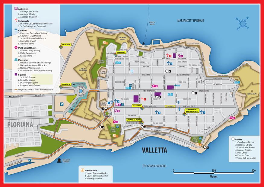 Valletta mapa