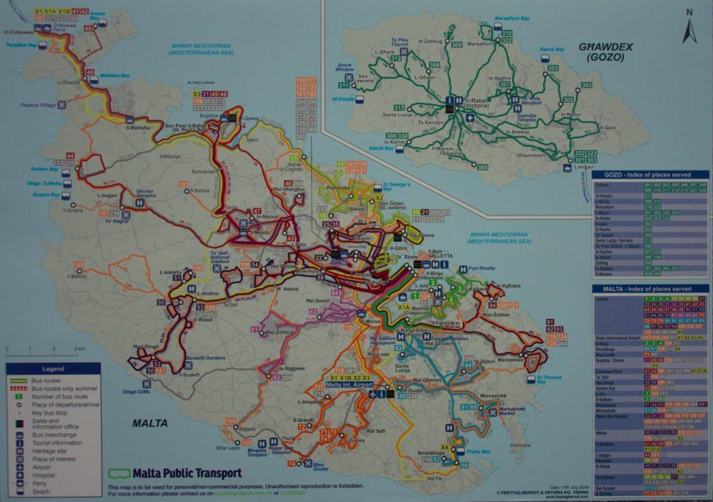 Malta trasy autobusowe