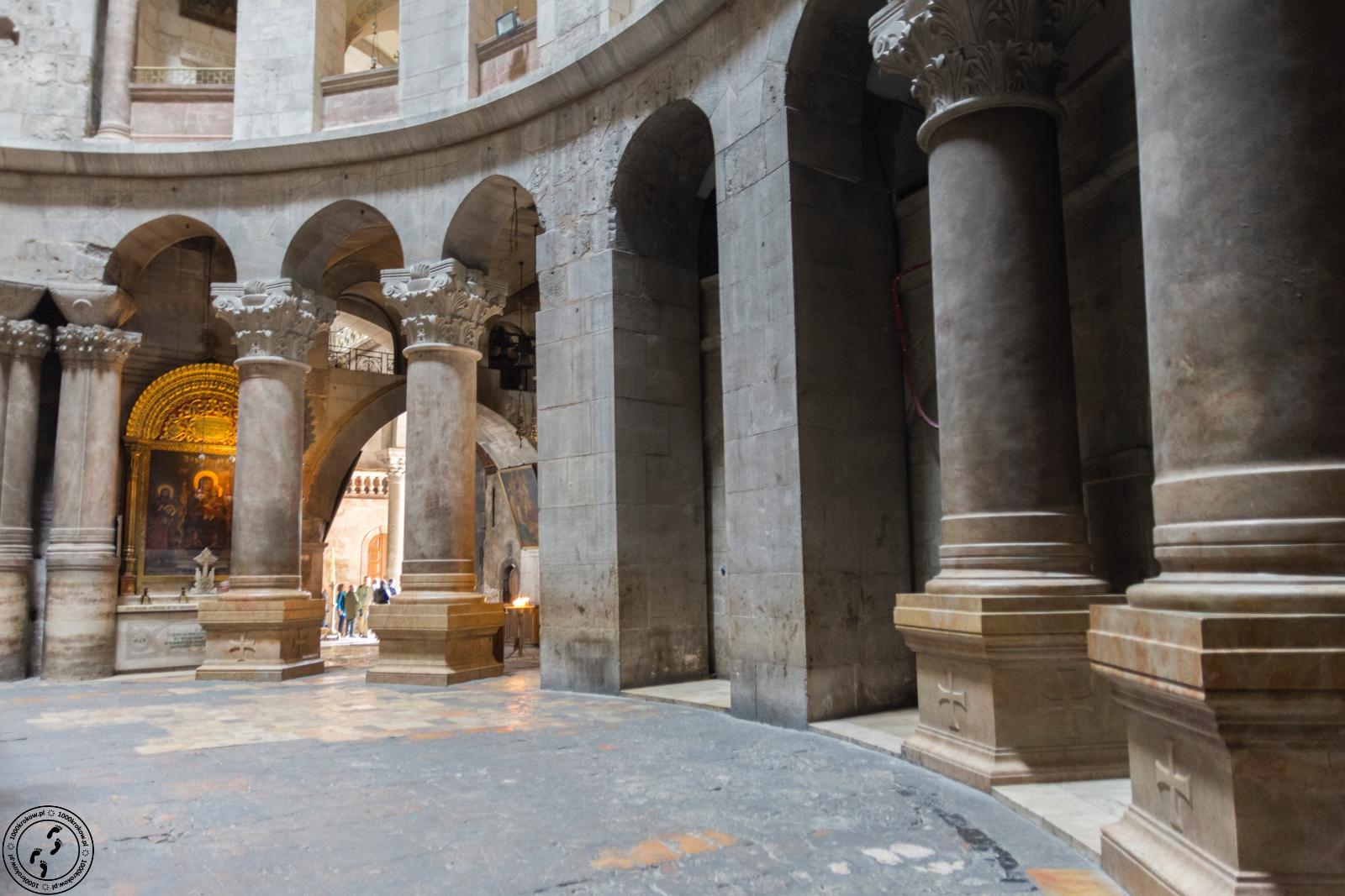 Rotunda wbazylice Grobu Świętego.