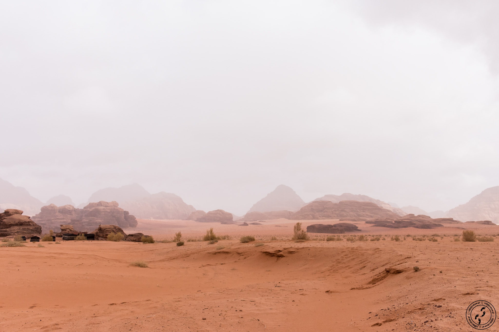 Pustynia Wadi Rum.