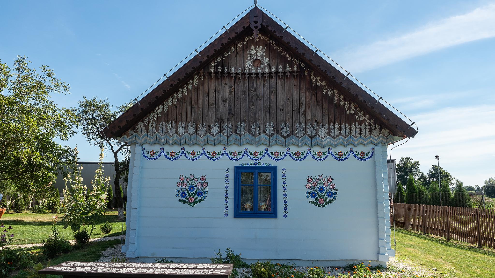 Zalipie. Dom Stefanii Łęczyckiej.